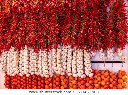 İspanyolca biber kırmızı yalıtılmış beyaz Stok fotoğraf © crisp