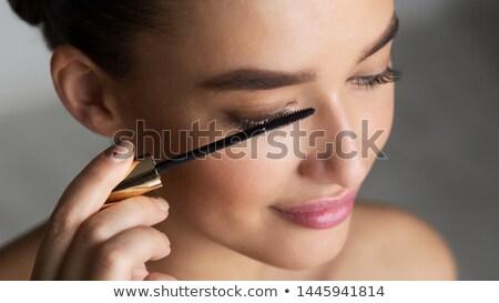 Brunetka tusz do rzęs oczy piękna portret Zdjęcia stock © photography33