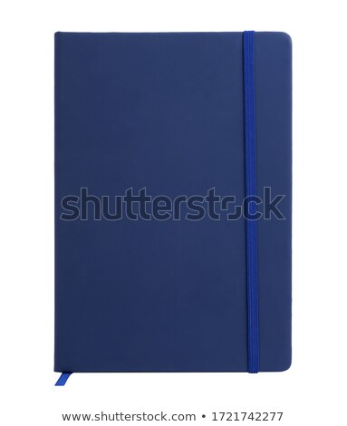 mavi · kapak · defter · beyaz · iş · kâğıt - stok fotoğraf © jakgree_inkliang