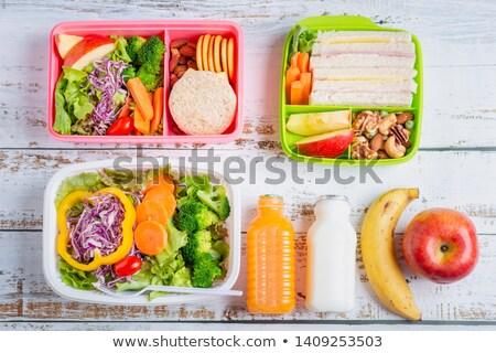 Stock fotó: Narancslé · gyümölcsök · tej · alma · gyümölcs · üveg