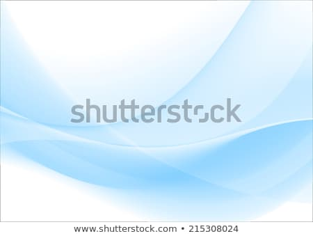 Сток-фото: Abstract Wavy Background In Blue Vector Illustration