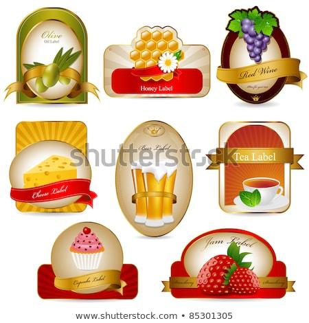 fraise · image · joli · fille · ouvrir - photo stock © lithian