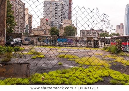 Vandalizmus szegény fal régi épület foltos ház Stock fotó © timbrk