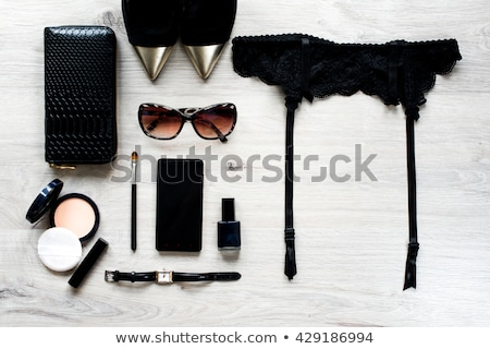 Kouseband gordel zwarte kousen torso water Stockfoto © dolgachov