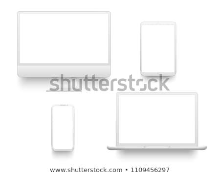ノートブック · 白 · 画面 · コンピュータ · 通信 - ストックフォト © limbi007