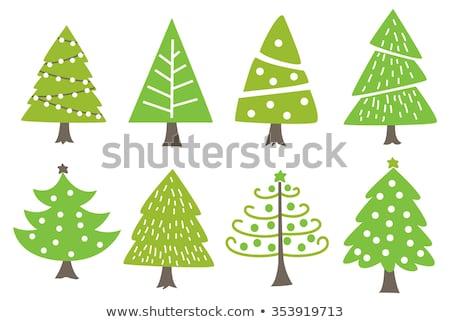 рождественская · елка · розовый · серебро · звездой · золото · подарок - Сток-фото © lordalea