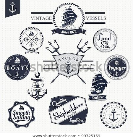 klasszikus · tengerészeti · szett · szükség · légkör · tenger - stock fotó © hauvi