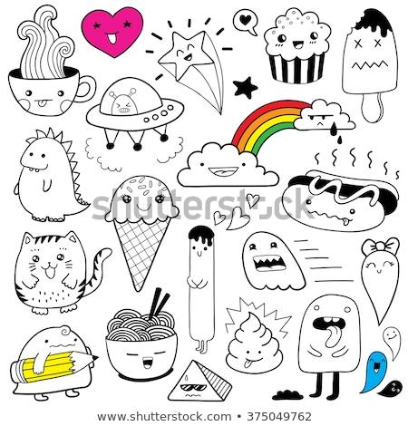 Stok fotoğraf: Komik · gıda · piramit · vektör · karikatür · nesne