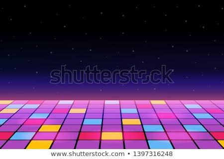 Fête piste de danse danse danse étage à carreaux Photo stock © Lightsource