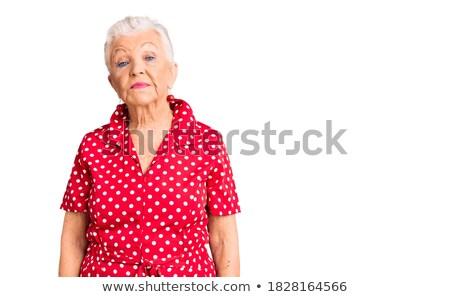 mulher · vestido · vermelho · olhando · câmera · cara · beleza - foto stock © wavebreak_media