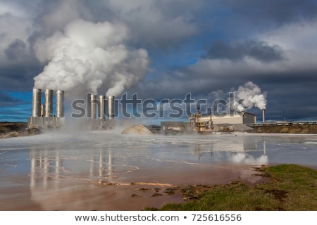 landschap · IJsland · Rood · vuil · stoom · heet · water - stockfoto © ollietaylorphotograp
