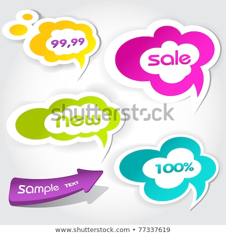Konuşma balonu simgeler grafik elemanları Internet dizayn Stok fotoğraf © Mictoon