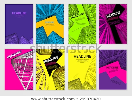 the prospect of the building on a black background Stock photo © butenkow