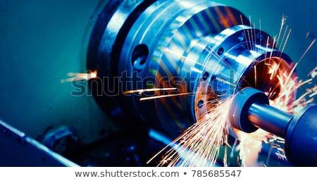 Stockfoto: Machine · dans · monitor · spreker · vector · witte · achtergrond
