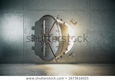 3d · ilustracji · pieniężnych · drzwi · blokady · biały - zdjęcia stock © kolobsek