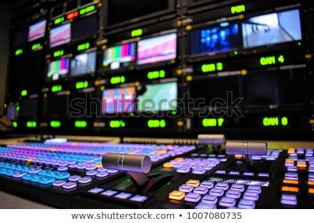 Radiodifusão antena clip-art Foto stock © zzve