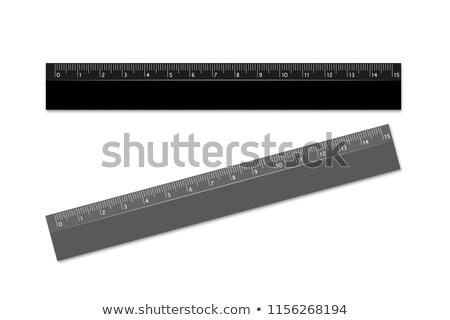 Preto governante escala transferidor lápis Foto stock © romvo