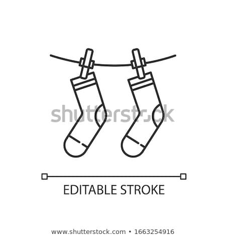 meias · criança · isolado · branco · roupa - foto stock © prill