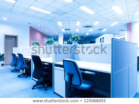 чистой рабочая станция бизнеса компьютер синий Сток-фото © curvabezier