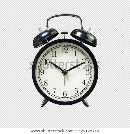 Eski siyah çalar saat yalıtılmış beyaz iş Stok fotoğraf © kuligssen