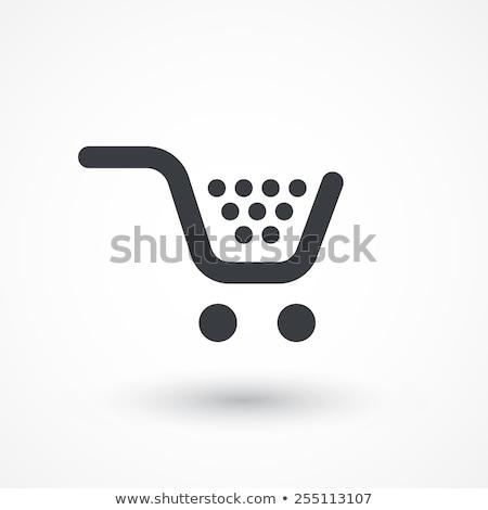 Kunst mand knop kopen winkelwagen clip Stockfoto © leonardo