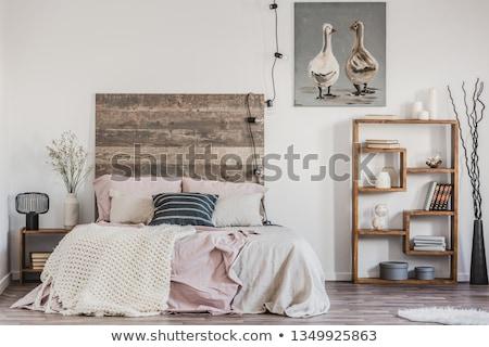деревенский спальня тосканский фермы дома домой Сток-фото © RuthBlack