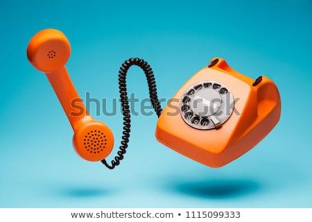 velho · telefone · retro · telefone · isolado · branco - foto stock © Mikko