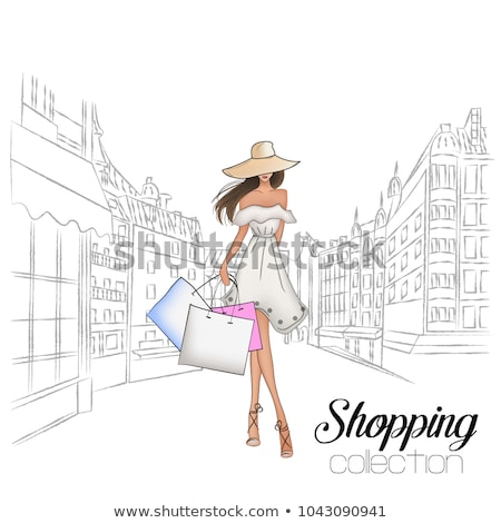Shopping Girls Vector Stock photo © Editorial