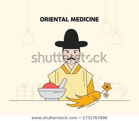 Antigo medicina acupuntura médico Foto stock © grechka333