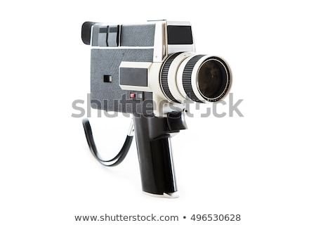 Vintage видеокамерой счастливым аннотация фильма весело Сток-фото © hauvi