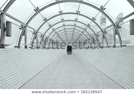 modern perspective corridor illuminated stock photo © anterovium