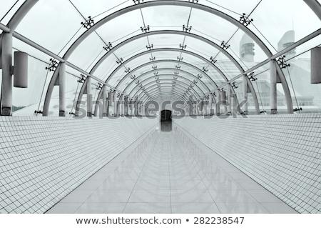 Stock photo: Modern perspective corridor illuminated