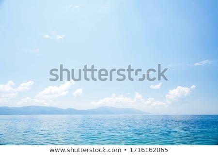 Deniz okyanus mavi açık gökyüzü gökyüzü Stok fotoğraf © ryhor
