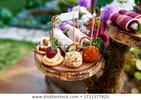 bread and meat, canape Stock photo © M-studio