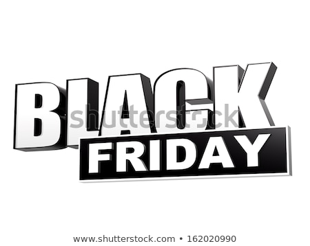 black friday in black white banner - letters and block Stock photo © marinini
