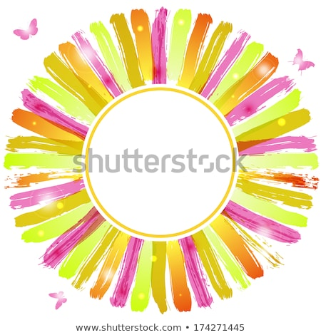 Photo frame with watercolor blots and flare lights Stock photo © gladiolus