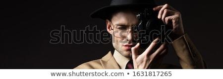 uomo · foto · vintage · film · fotocamera - foto d'archivio © stevanovicigor