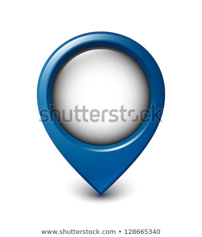 blue map pointer template stock photo © elmiko