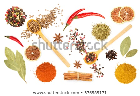 Garlic cloves in wooden bowl isolated on white background Stock photo © natika