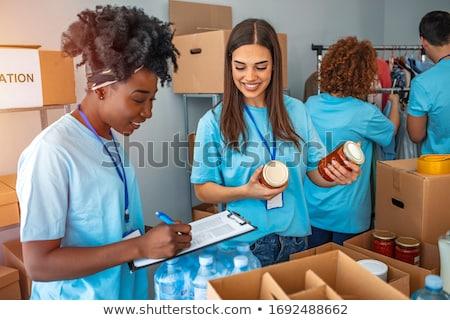 Férfi kéz ki doboz kartondoboz kérdez Stock fotó © stevanovicigor