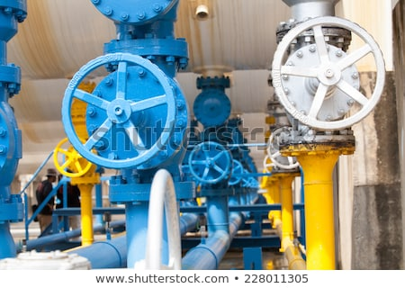 rusty water valve and tank Stock photo © tungphoto