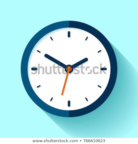 Stockfoto: Muur · klok · bedrijfslogo · kantoor · geld · horloge