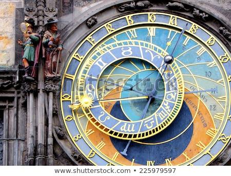 Oude Praag klok toren populair gebouw Stockfoto © jonnysek