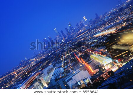 view to downtown Los Angeles with zoom effect Stock photo © meinzahn