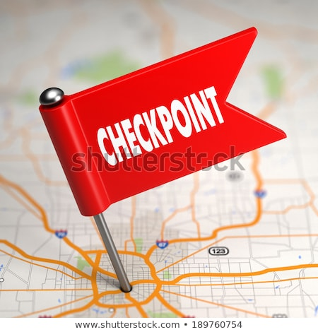 Checkpoint - Small Flag on a Map Background. Stock photo © tashatuvango