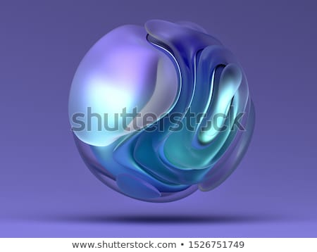 3d atom symbol with a globe		 Stock photo © designers