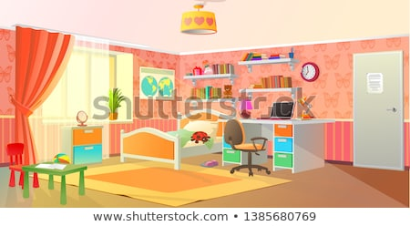 Teenage boy and girl in bedroom Stock photo © monkey_business