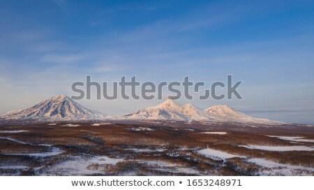 火山 空 自然 雪 山 冬 ストックフォト © amok