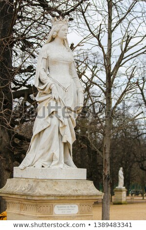 Statue Of Valentina Visconti In Paris Zdjęcia stock © jorisvo