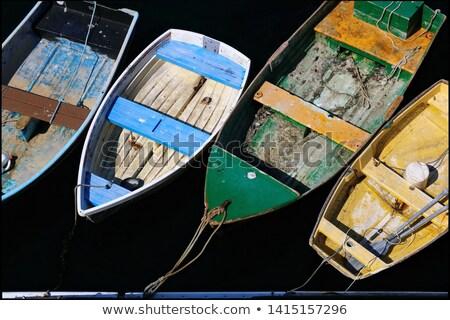abandonné · bateaux · photos · bois · mer · bateau - photo stock © gemenacom